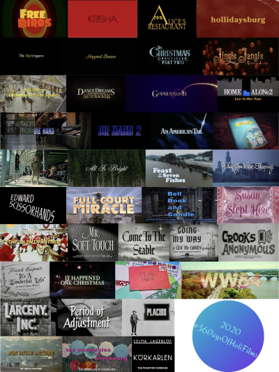 #36DaysOfHoliFilms Title Cards